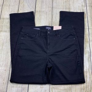 NEW NYDJ Marilyn Straight Black Stretchy Jeans 14